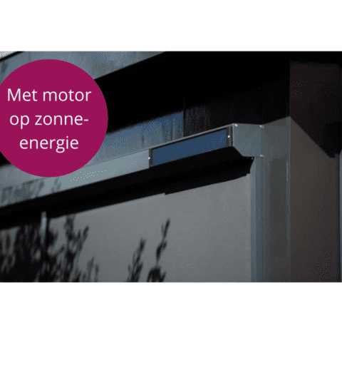 Screen met energie neutrale motor